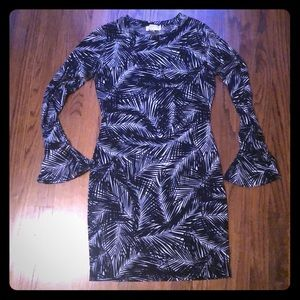Michael Kors stretchy palm leaf dress